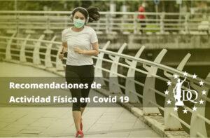 Recomendaciones de Actividad Física en Covid 19